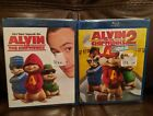 Alvin and the Chipmunks/Alvin & the Chipmunks Squeakquel 2 Blu Ray Discs New
