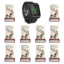 SINGCALL Wireless Calling System 1 Wrist Receiver, 10 Buttons for Cafe, Bar