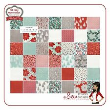 Winterberry Moda Charm Pack Winter Berry Squares Fabric Christmas Fabrics Retro