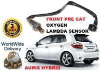 FOR TOYOTA AURIS 1.8 VVTi HYBRID HSD 2010> FRONT PRE CAT OXYGEN 02 LAMBDA SENSOR