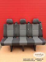Wide Bench rear triple seat VW Crafter Mercedes Sprinter Isofix TASAMO