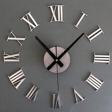 Large Frameless Time Clock Wall Sticker Big Watch 3D Art DIY Home Decoration