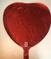 LOT 195 NEW Love Wedding Valentine Mylar Foil Red Heart Shape US Balloon Company