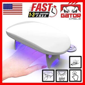 Mini Portable UV LED Light Nail Polish Curing Gel Dryer Lamp Manicure Pedicure