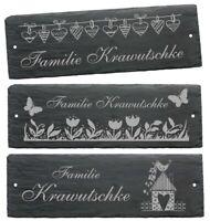 Schiefertafel Schild Türschild Klingelschild Familienname Eingang Namensschild ✔