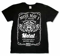 Miss May I Lion Black T Shirt New Official