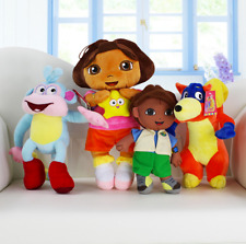 4pcs/set Dora Girl & Boots Monkey & Swiper Fox & Go Diego Go Cartoon Plush Soft