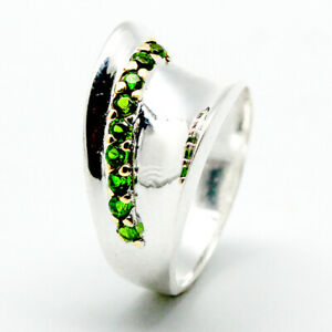 Chrome Diopside Ring 925 Sterling Silver Size 6.5 /RT18-0265