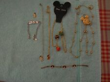 Lot Of 7 Pieces Disney Jewelry-Bracelets, Necklaces-Pendant-Nwot