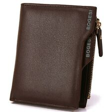 Bogesi PU Leather Bifold Wallet Credit Card Holder for Men's (Brown)