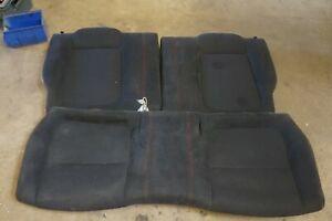 Integra Type R DC2 JDM Rear Recaro Black Seats & Red Stitching - EG - 2