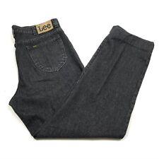 Vintage Lee Denim Jeans Charcoal Grey 38W 34L Straight