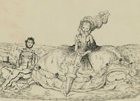 Harold Hope Read (1881-1959) -Signed  Pen and Ink Drawing, The Picnic