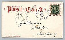 Elwood Kansas KS Doniphan CO 1906 Type 2/2 Doane Cancel Postcard 21 Day Use RARE
