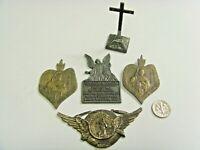 5 antique catholic Christian relics protection icon lot religion faith 50752