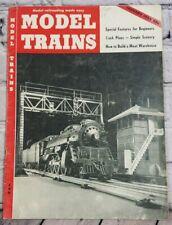 Model Trains January 1955 Vintage Railroading Locomotive Paper Magazine