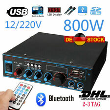800W Stereo Digital Power Amplifier Verstärker Bluetooth FM HiFi Audio Amplifie