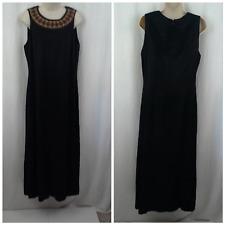 Carole Little womens dress Size 14 Dark brown Sheath Beaded embellished neckline
