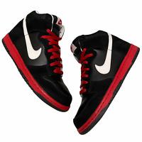 Size 8.5 - 2010 Nike Dunk High Bred Black / White / Sport Red VTG SB 317982 009