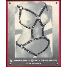 Harness donna con cinghie cuoio nero supremacy body harness for woman shop4lover