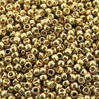 TOHO Seed Beads Round Size 11/0 28GM PermaFinish Galvanized Champgne TR-11-PF592