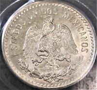 **ONLY 2 HIGHER** 1913 Mexico 10 Centavos Cap & Rays KM#428 - Silver Coin