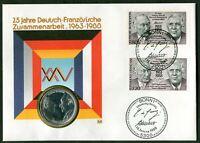 BRD Numisbrief Nr. 1351 Frankreich 2636 Deutsch-Französische Freudschaft 1988
