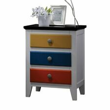 ACME Furniture Brooklet Nightstand in White and Multi-Color