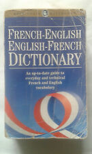 FRENCH-ENGLISH ENGLISH-FRENCH DICTIONARY