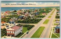 1947 STONE HARBOR NEW JERSEY*NJ*2nd AVE BOULEVARD LOOKING SOUTH*LINEN POSTCARD
