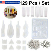 129x Casting Mold Kit Resin Jewelry Pendant Making Silicone Mould Craft DIY