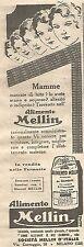 W2261 Alimento MELLIN - Pubblicità del 1930 - Old advertising