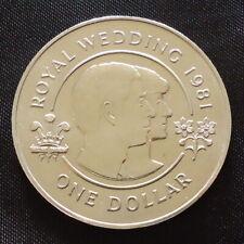 1981 Bermuda $1 coin Charles Diana Wedding