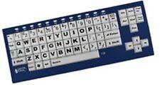 Big Blu VisionBoard Blue Keyboard with Bluetooth Large Print Keys For Mac & PC