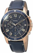 Fossil Men's FS5237 'Grant Sport' Chronograph Blue Leather Watch