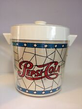 Vintage 'Stained Glass' Pepsi Cola Ice Bucket