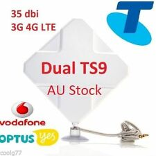 35dBi 3G 4G LTE ANTENNA BOOSTER for Telstra WI-FI 4GX Pro - 2xTS9 plug &cable