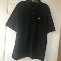 Masters Collection Mens Large Black 100% Pima Cotton S/S Polo Golf Shirt