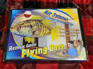 NEW OPEN BOX 2011 AIR SWIMMERS REMOTE CONTROL FLYING BASS NEVER ASSEMBLED