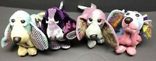 Applause Hush puppies bean bags hound dogs stuffed plush Lot Of 4