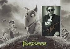 TIM BURTON Signed 12x8 Photo Display FRANKENWEENIE & EDWARD SCISSORHANDS COA