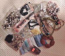 Vge/New 1.8 LB Bulk Mixed Lot Beads, Glass, Plastic, Jade, Jewlery Making Parts