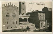 1919 Bologna - Palazzo Re Enzo e del Podestà Hotel Corona d'Oro FP B/N VG ANIM