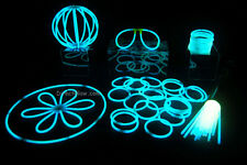 """50- 8"""" White (Tinted Blue) Glow Stick Bracelets Party Pack"""