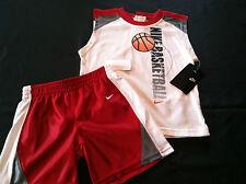 NeW boys sz 12 months NIKE BaSketBaLL shorts shirt~set red white