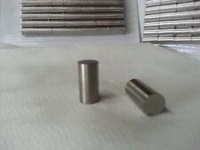 """Alnico 5 magnet round bar 5 each 3/8""""dia x 3/4"""" New item Precision ground"""