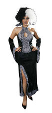 Cruella De Ville Dalmatian Halloween Fancy Dress Costume up to Bust 36 Waist 30""