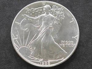 1988 Liberty Walking American Silver Eagle Dollar Coin