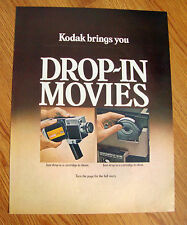 1970 Kodak Instamatic Movie Cameras Ad