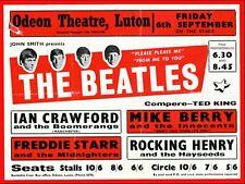 "Beatles LUTON 16"" x 12"" Photo Repro Concert Poster"